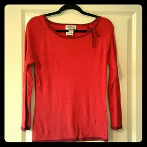 Classic Red Knit Blouse